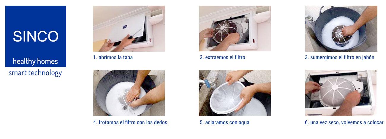 Limpieza de filtros de Sistema de Ventilación Forzada Positiva SINCO