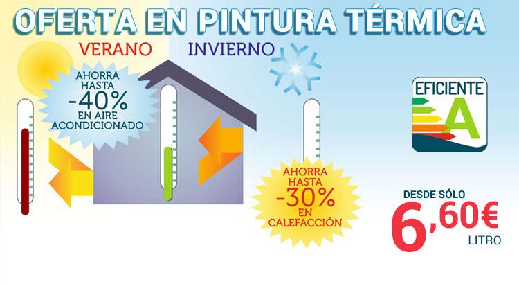Oferta en pintura termica para viviendas, interiores y exteriores