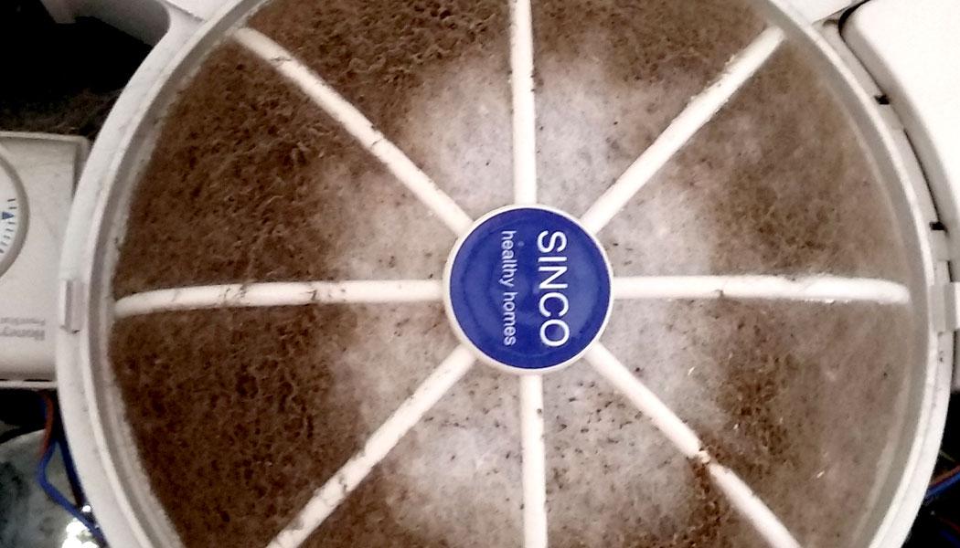 filtro para sistema de ventilación forzada positiva