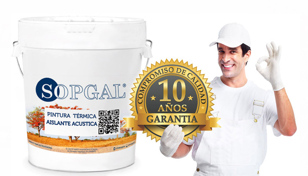 Grantía 10 años pintura térmica Sopgal