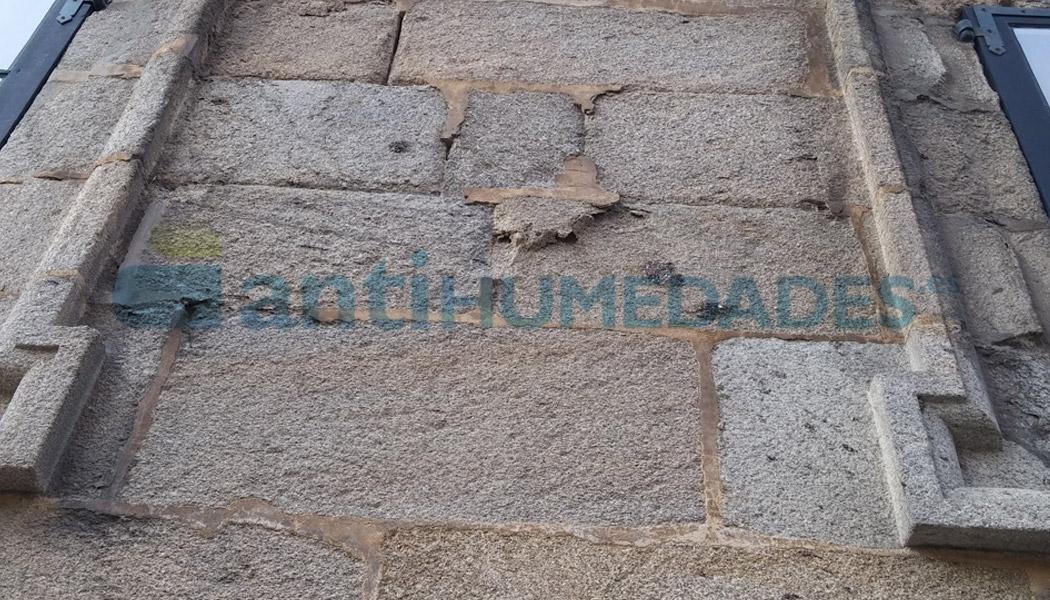 El Consolidante KS Fuerte evita que la piedra se deshaga y disgregue