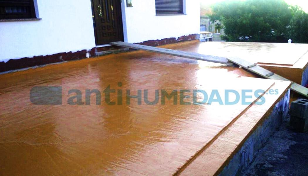 Goma líquida de poliuretano de Sopgal impermeabilizante para superficies transitables