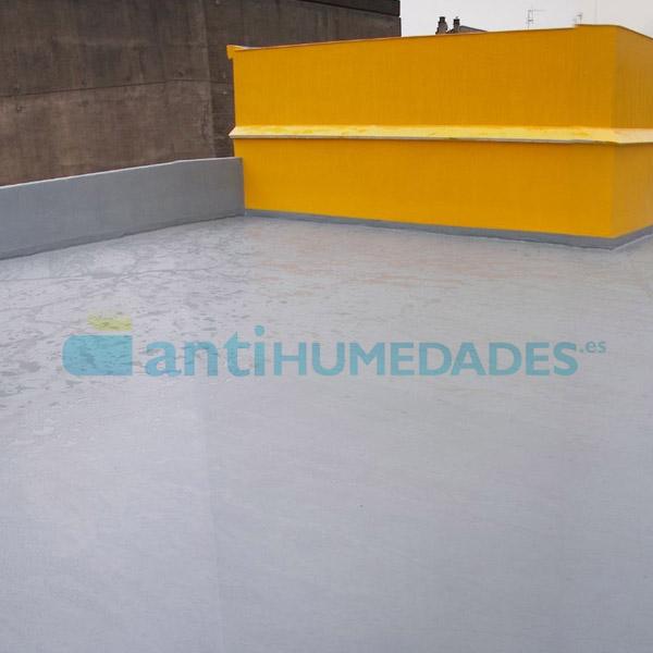 Cubierta impermeabilizada con goma líquida poliuretano elástica de Sopgal