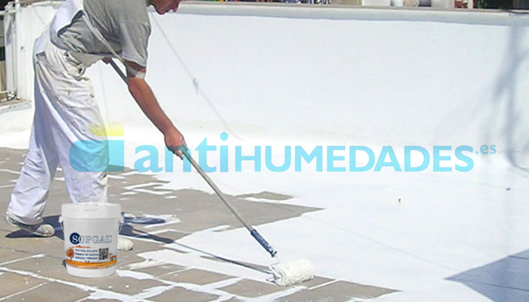 Aplicación pintura térmica especial terrazas sopgal: resistente, elástica y transitable