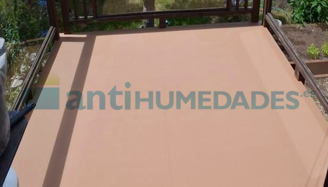 Pintura térmica transitable especial para terrazas