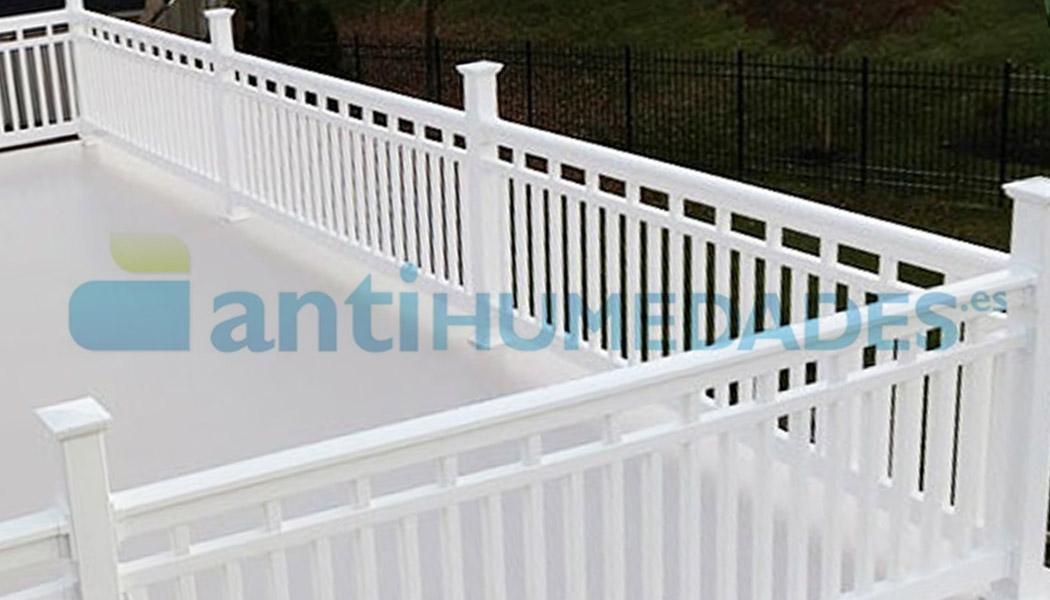 Pintura térmica aislante de caucho impermeabilizante para terrazas transitables Antihumedades