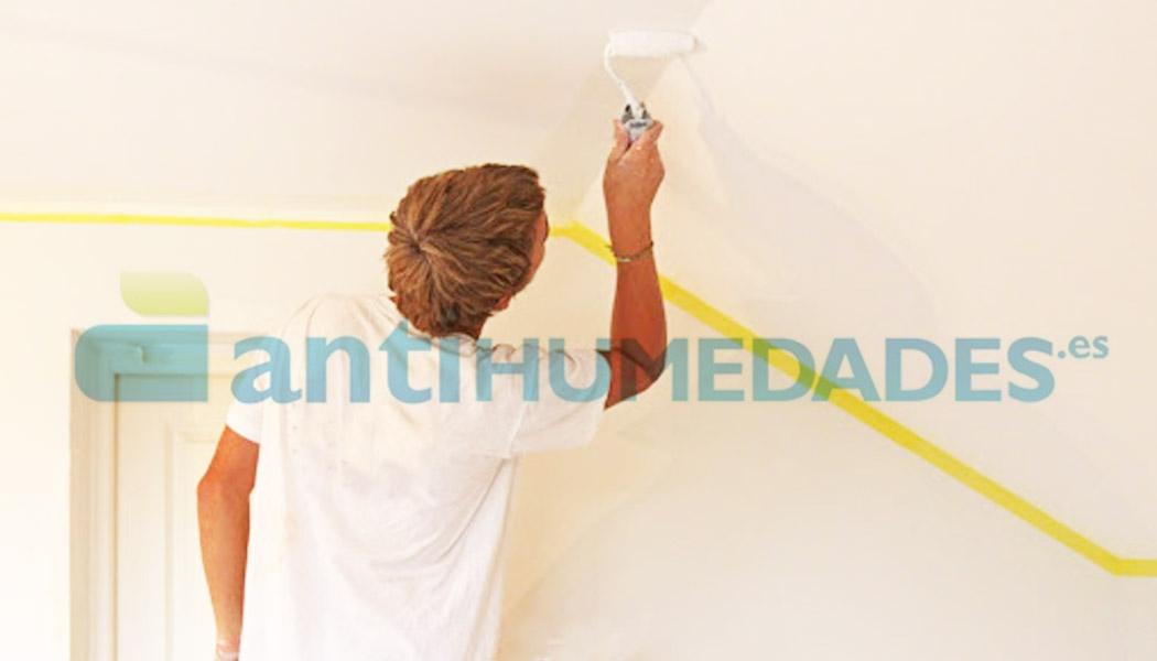 Aplicar pintura antihumedad impermeabilizante selladora para evitar filtraciones de agua en interiores