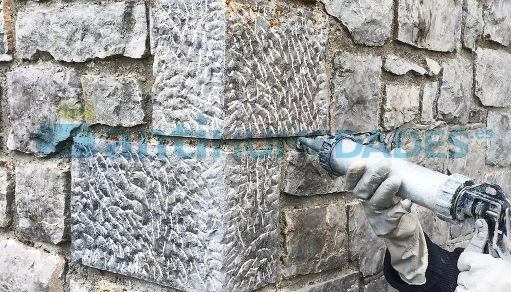 Mortero Acrílico Sopgal para hacer rejuntados de piedra en fachadas