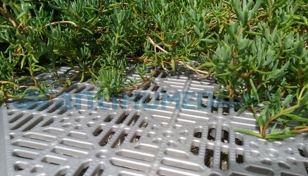 Loseta antihumedad de polipropileno para suelos en clor gris aluminio