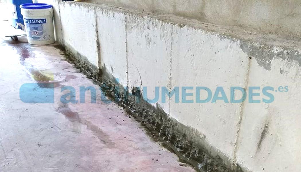 Impermeabilizar superficies de hormigón de sótanos y garajes con aditivo Krystaline 1