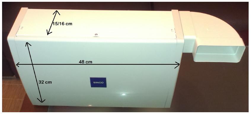 Medidas del Sistema de Ventilación Forzada SINCO